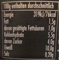 Pudding caramel - Nährwertangaben - de