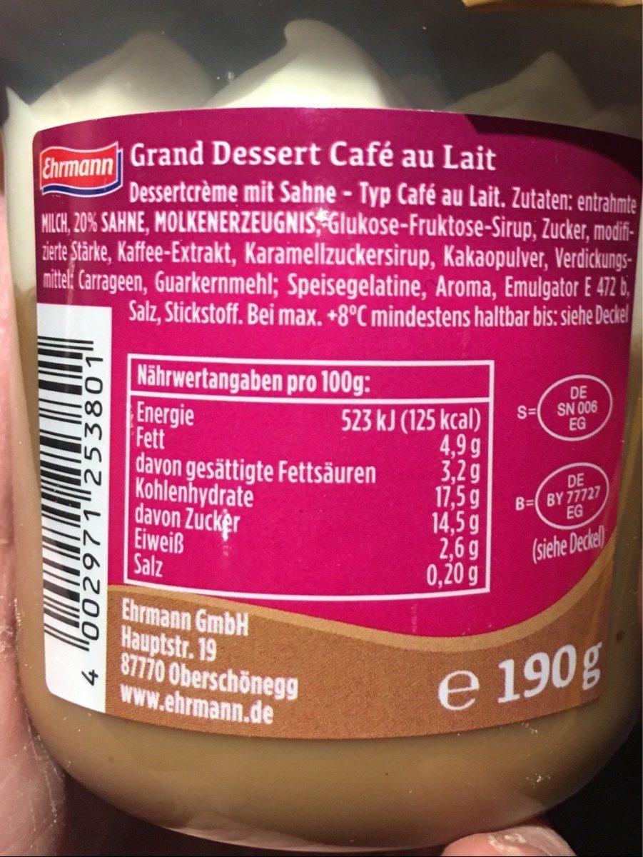 Grand dessert - Ingrédients - fr