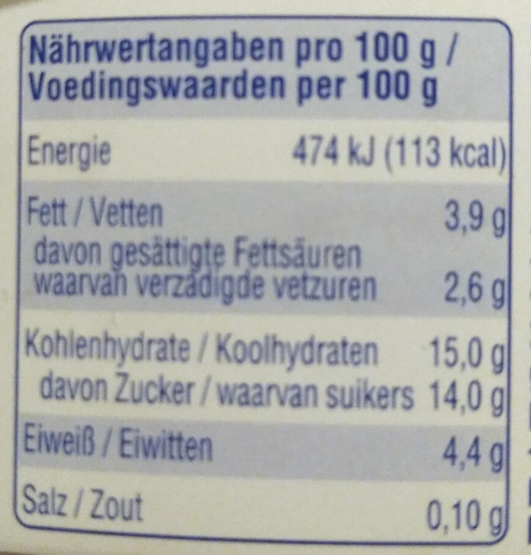 Feiner Rham-Joghurt - Voedingswaarden - de