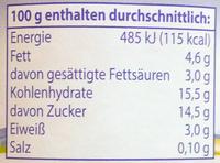 Almighurt Stracciatella - Nährwertangaben