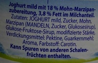 Almighurt Mohn-Marzipan - Ingrediënten