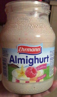 Yogur sabor vainilla y preparado de frambuesa - Prodotto - de