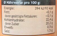 Süß-Sauer-Sauce - Nutrition facts - en