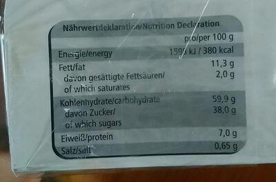 Feine Nürnberger Oblaten Lebkuchen - Voedingswaarden - de