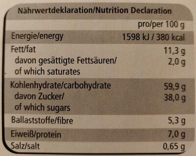 Feine Nürnberger Oblaten Lebkuchen - Nährwertangaben - de