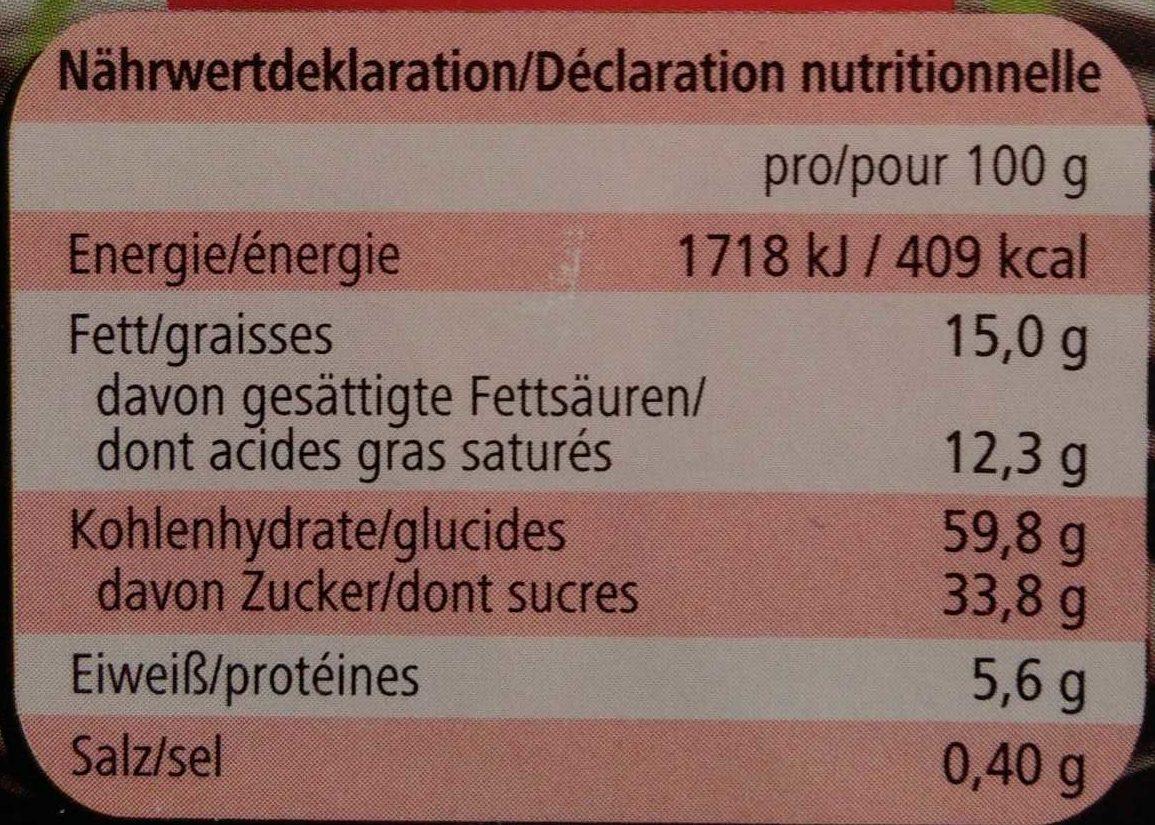 Cocosella - Nutrition facts