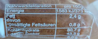 Soß Lebkuchen - Nutrition facts - de