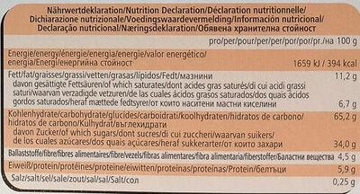 Herzen Sterne Brezeln - Informazioni nutrizionali - de