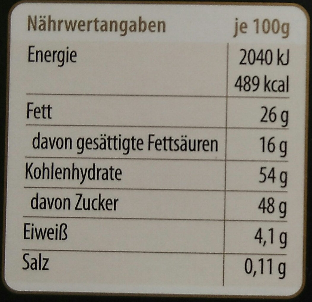 Götterfunken - Nutrition facts