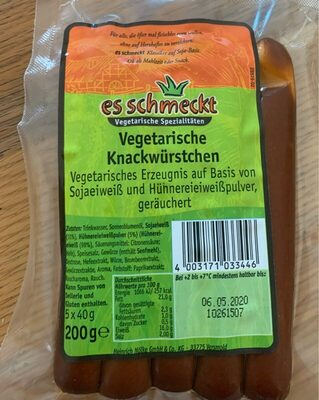 Vegetarische Knackwürstchen - Product