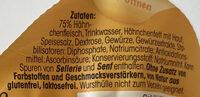 Hähnchen _Fleischwurst - Zutaten - de