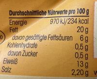 Hähnchen _Fleischwurst - Nährwertangaben - de