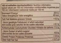Apfel Direktsaft - Nutrition facts - de