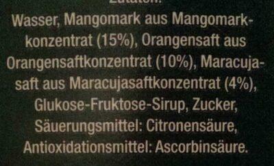 Mango-Maracuja-Orange - Ingrediënten - de