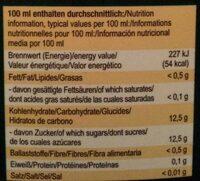 Mango-Maracuja-Orange - Voedingswaarden - de
