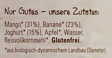Mango-Banane mit Joghurt - Ingredients