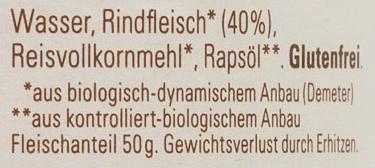 Fleischzubereitung Rind - Ingredients