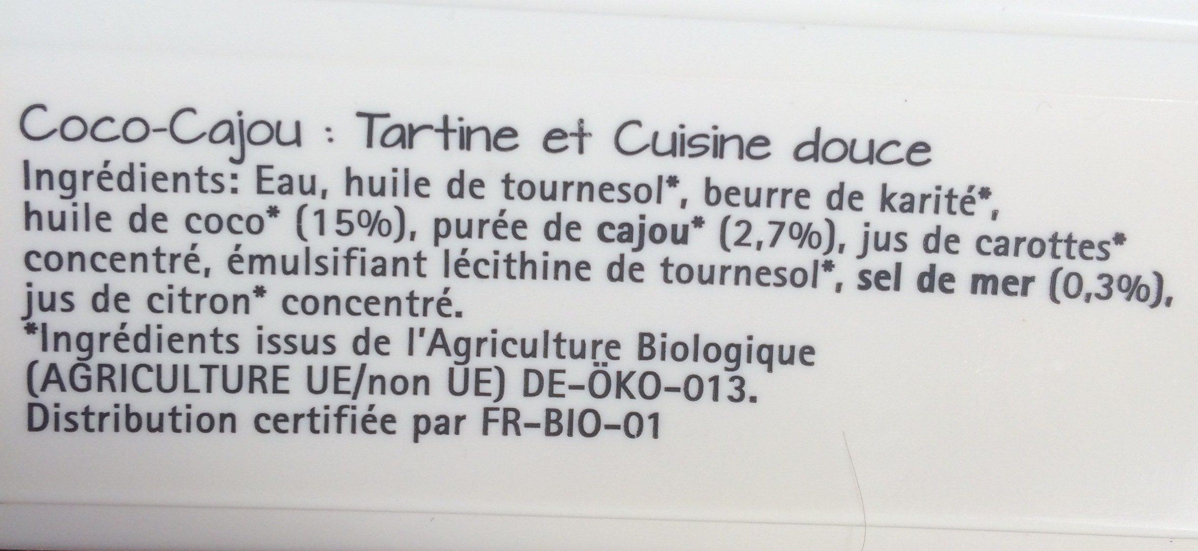 Coco Cajou - Ingrediënten - fr