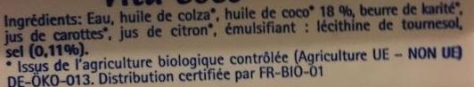 Vita Coco - Ingrédients - fr