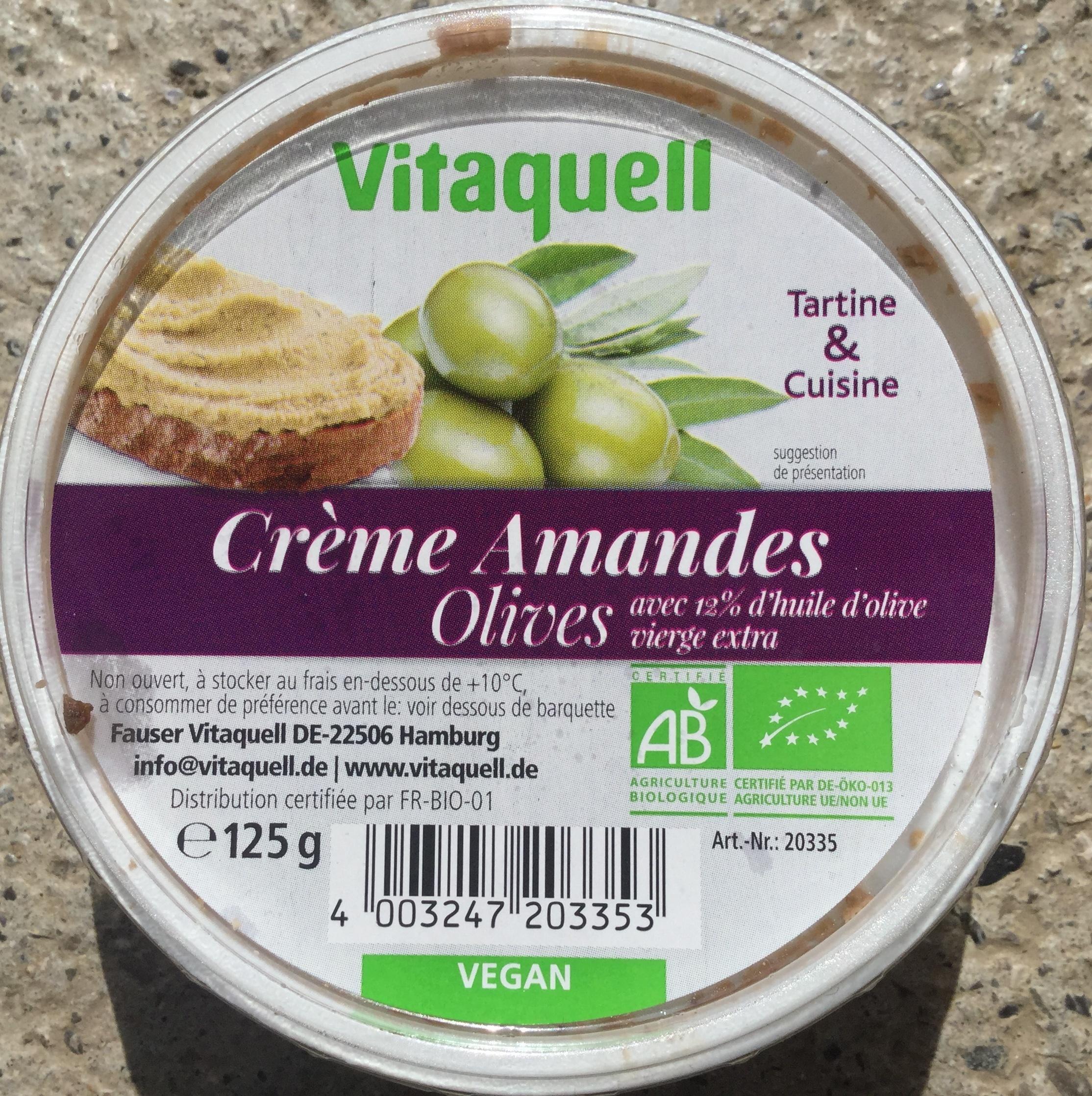 Crème Amandes Olives - Product - fr