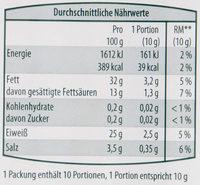 Schwarzwälder Bauchspeck - Nutrition facts