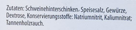 Schwarzwälder Schinken - Inhaltsstoffe