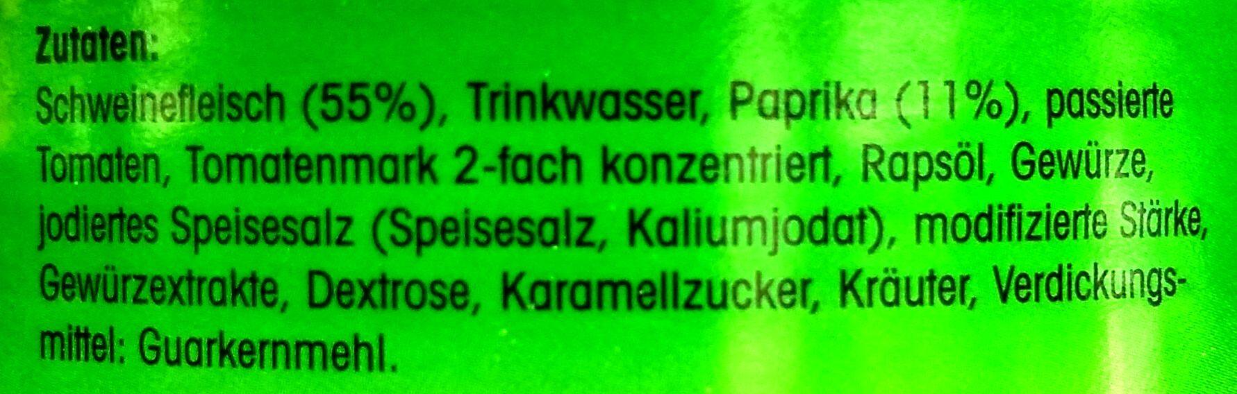 Paprika Gulasch - Zutaten - de