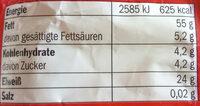 Süße Mandeln - Nutrition facts