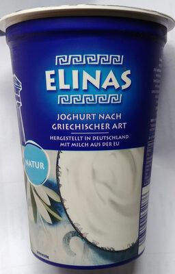 Elinas Griechischer Joghurt Natur - 产品 - de