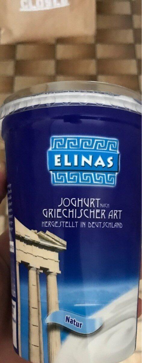 Elinas Griechischer Joghurt Natur, 500 g - Produkt - de
