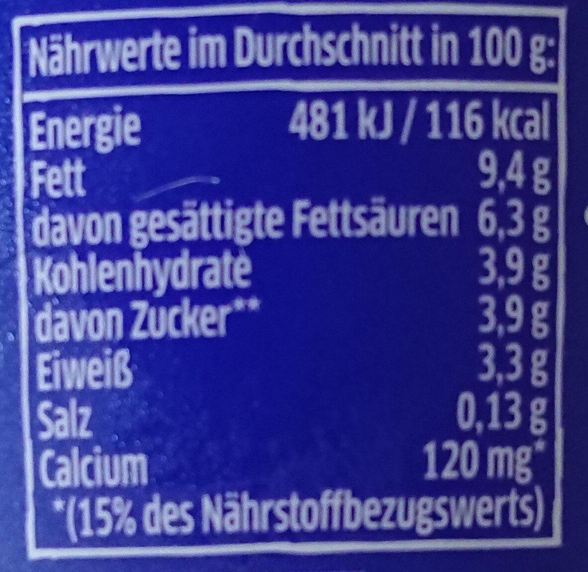 Elinas Griechischer Joghurt Natur - 营养成分 - de