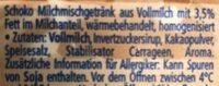 Happy Drink Schoko - Ingredients - de