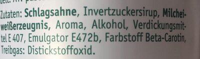 Sahnewunder Typ Eierlikör - Ingredients