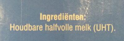 Houdbare halfvolle melk - Ingrediënten - en