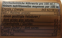 Eismacchiato - Nutrition facts - de