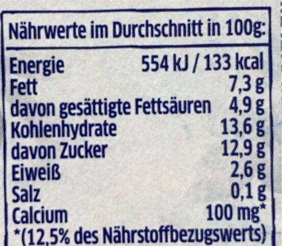 Joghurt nach griechischer Art Blutorange-Granatapfel - Nährwertangaben - de