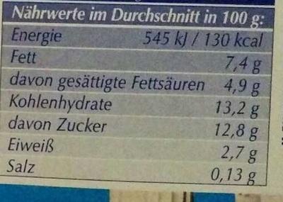 Joghurt nach griechischer Art Kirsche - Nutrition facts - de