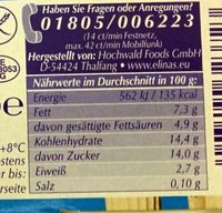 Joghurt nach Griechischer Art Götterfrucht - Nährwertangaben - de