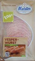 Vesperwurst - Produkt
