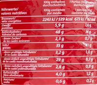 Chipsfrisch ungarisch - Nährwertangaben