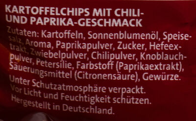 Riffels Chili & Paprika - Ingrédients - de