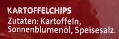 Chipsfrisch gesalzen - Ingrédients - fr