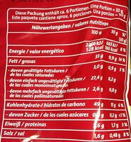 Funny-frisch Chipsfrisch Gesalzen - Información nutricional - de