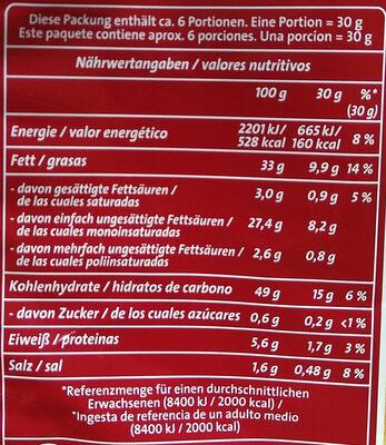 Chipsfrisch gesalzen - Nutrition facts - de