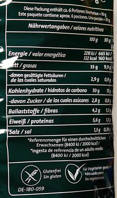Chipsfrisch Oriental - Valori nutrizionali - de