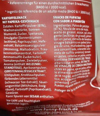 Ofen Chips Paprika - Nutrition facts - de