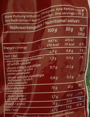 Funny-frisch Brezli - Informazioni nutrizionali - de