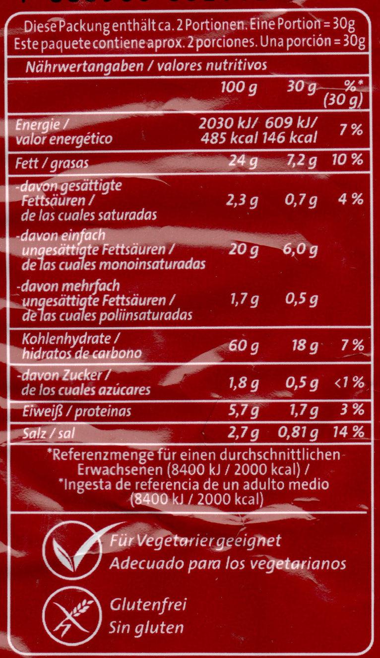 Jumpys Paprika - Nährwertangaben