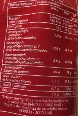Chipsfrisch ungarisch 4er Pack - Informations nutritionnelles