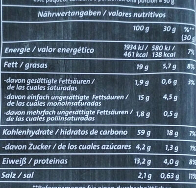 Linsen Chips Paprika - Nutrition facts - de